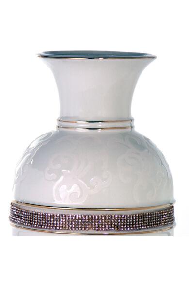 Nagy  fehér-arany váza