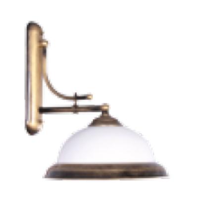 Lámpa, oldalfali, Orion K-1, antikolt réz
